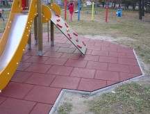 Покрытие площадки плиткой